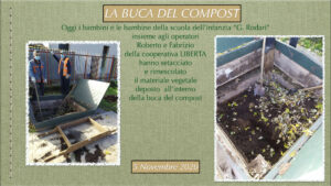 bambini che fanno compostaggio